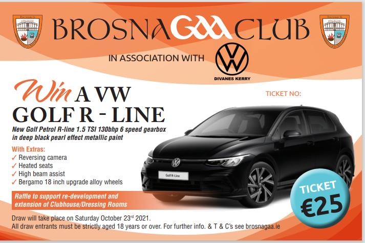 Brosna GAA Car Raffle Ticket